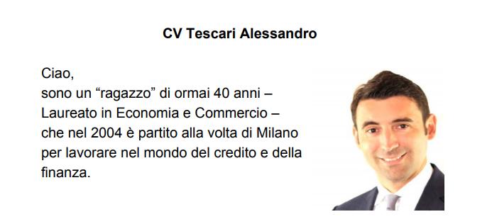Chi è Tescari Alessandro?
